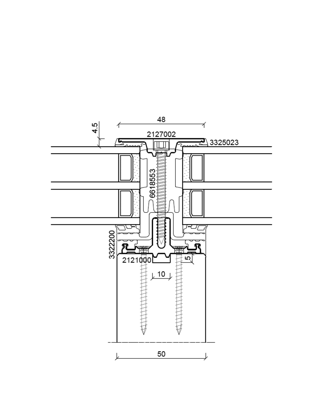 batimet mur rideau bois aluminium tm50 se sg. Black Bedroom Furniture Sets. Home Design Ideas